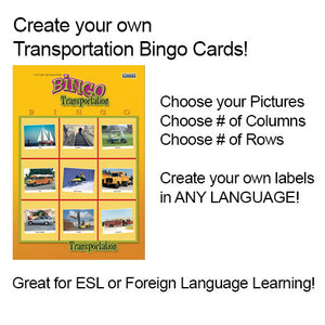 Print Your Own Transportation Bingo Cards