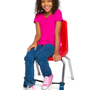 A Young Girl Sitting On a Chair with a Bouncyband
