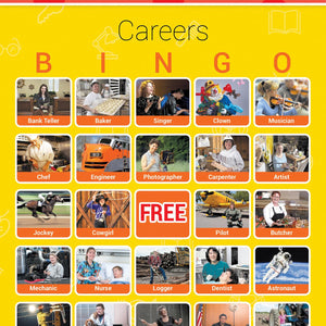 Careers Bingo Cards- Picture Recognition