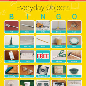 Everyday Objects Bingo- Picture Recognition Game