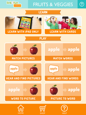 Link4fun Fruits & Vegetables Flashcards