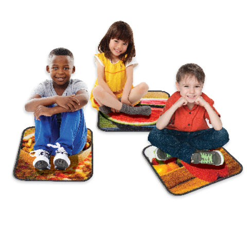 Sensory Builder Food Photo Carpet Squares