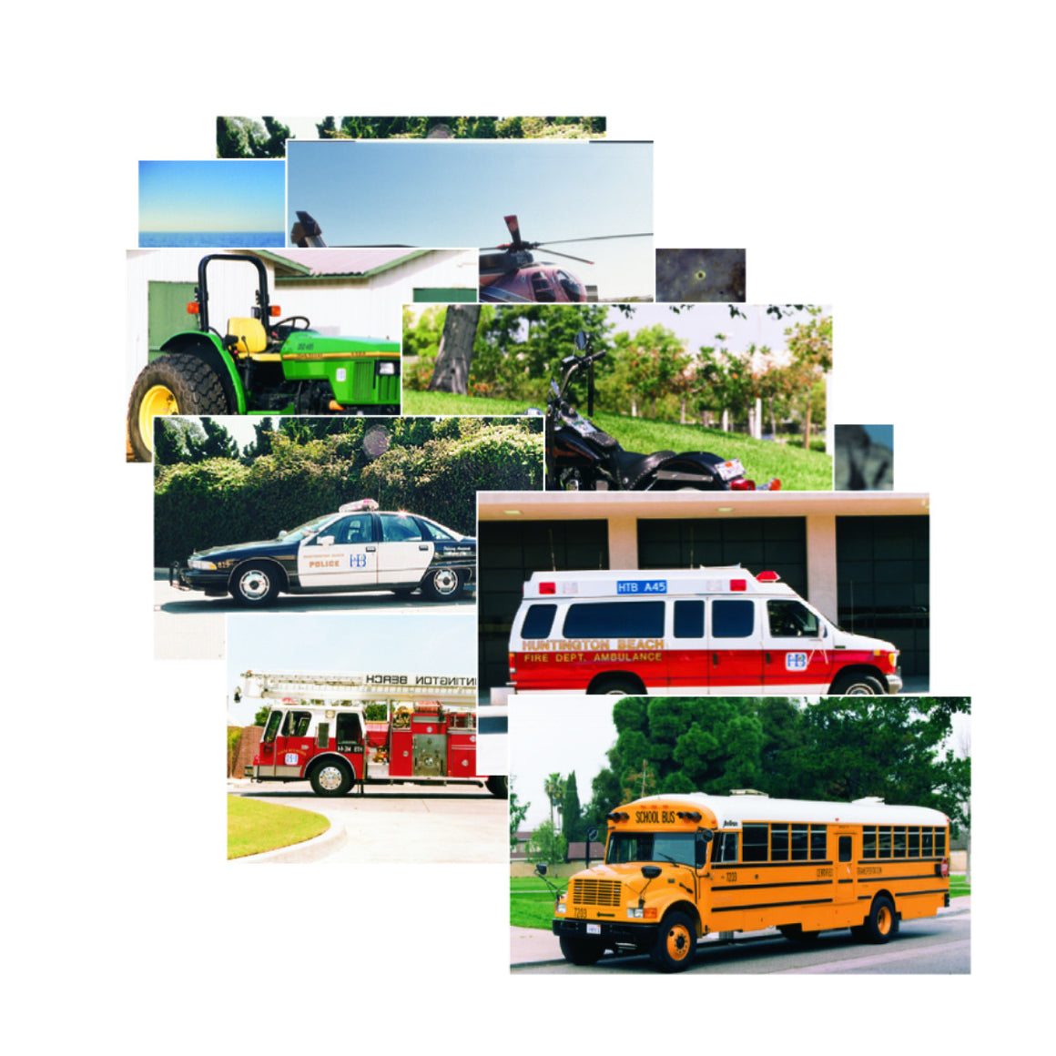 Vehicles Poster Set