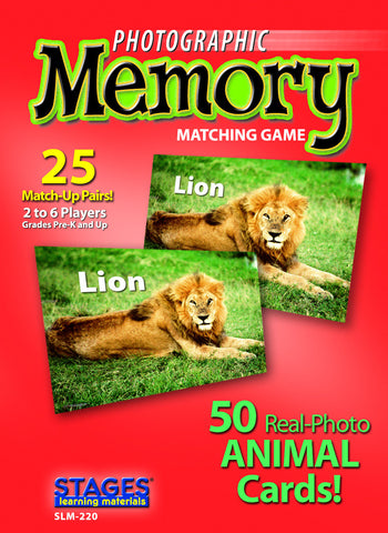 Animal Memory Card Game