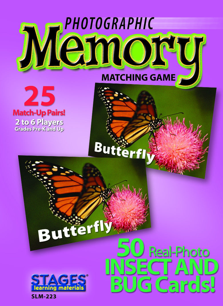 Insects & Bugs Memory Game