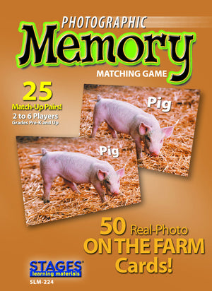 On The Farm Memory Game