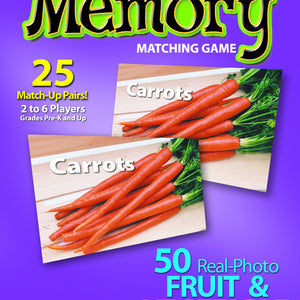 Fruits & Vegetables Memory Matching Game