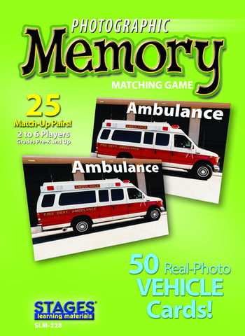 Vehicles Memory Game