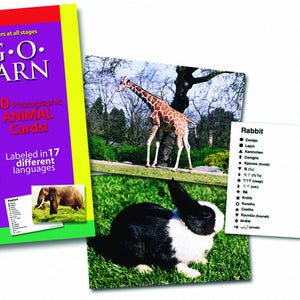 Lang-O-Learn Animal Cards- rabbit and giraffe