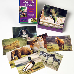 Lang-O-Learn Animal Cards for basic language skills to preschool age children
