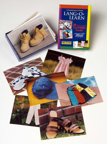 Lang-O-Learn Clothing Cards for learning basic language skills to preschool age children