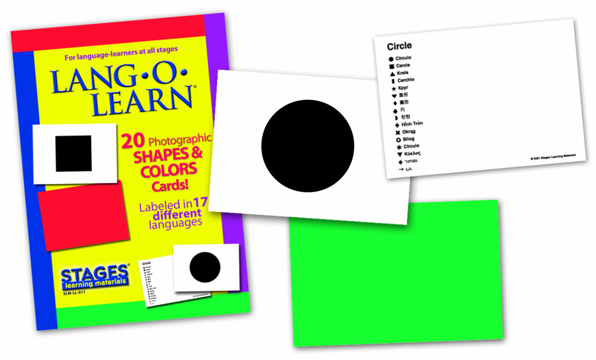 Lang-O-Learn Shapes & Colors Cards | Stages Learning Materials