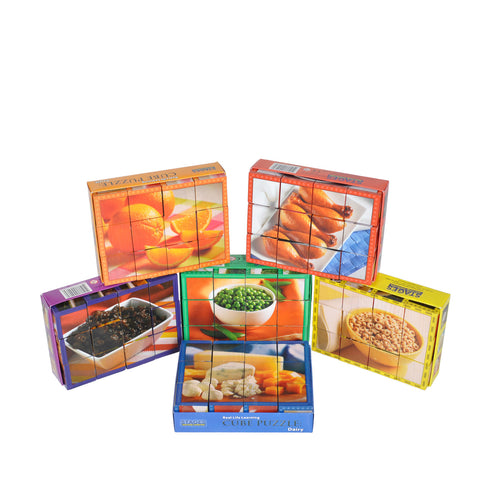 Food Group Puzzle Kit for hand-eye coordination and spatial awareness practice.