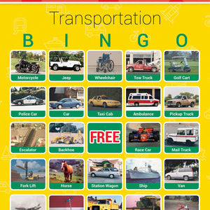 Transportation Bingo Game