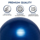 Weighted Yoga/Balance Ball Chair For Kids Up to 5' Tall- Blue