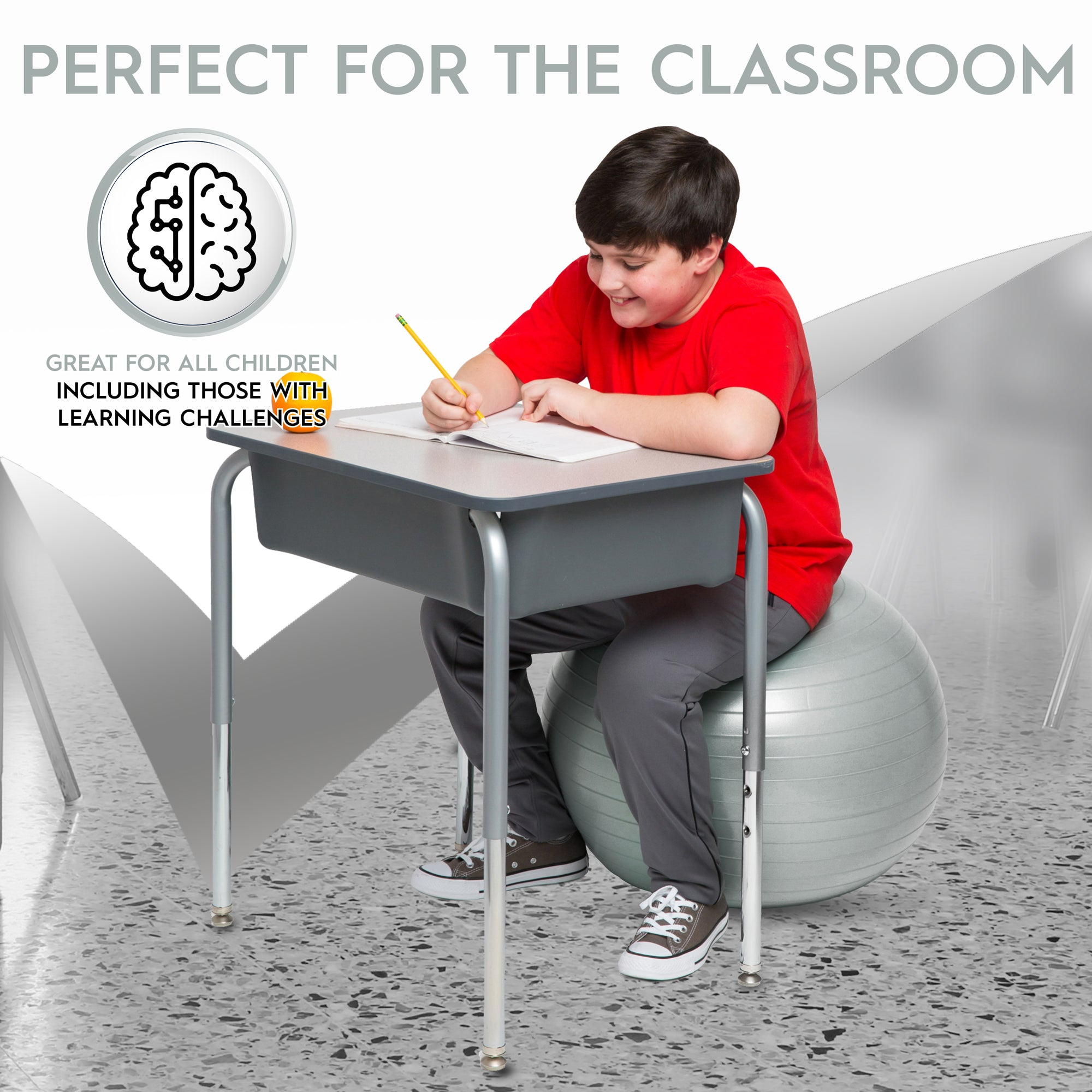 Marvelous Weighted Yoga Balance Ball Chair For Kids And Adults Up To 56 Tall Silver Short Links Chair Design For Home Short Linksinfo