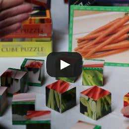 Snacks Themed Cube Puzzle