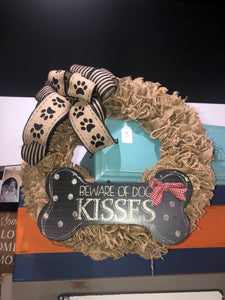 Wreath- Dog Kisses