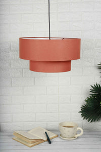 Double Storey Salmon Color Lampshade for home decor