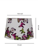 Load image into Gallery viewer, Butterfly Printed White Color Lampshade (Small)