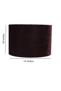 Drum Shaped Velvet Color Lampshade (14 inches)