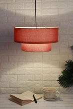 Load image into Gallery viewer, Double Storey Salmon Color Lampshade for home decor