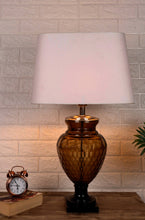 Load image into Gallery viewer, Strawberry Drop Table Lamp with Trapezium White Lampshade