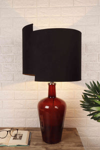 Newly Design Black Lampshade Red Merlot Table Lamp