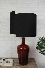 Load image into Gallery viewer, Newly Design Black Lampshade Red Merlot Table Lamp