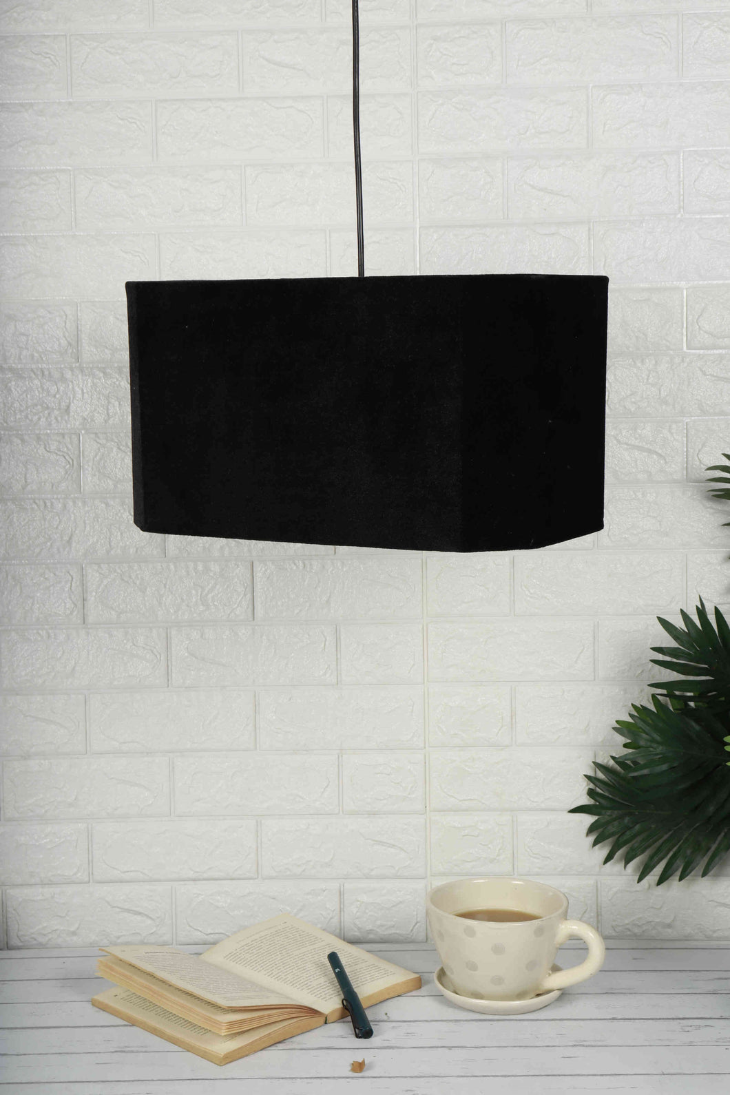black lampshade