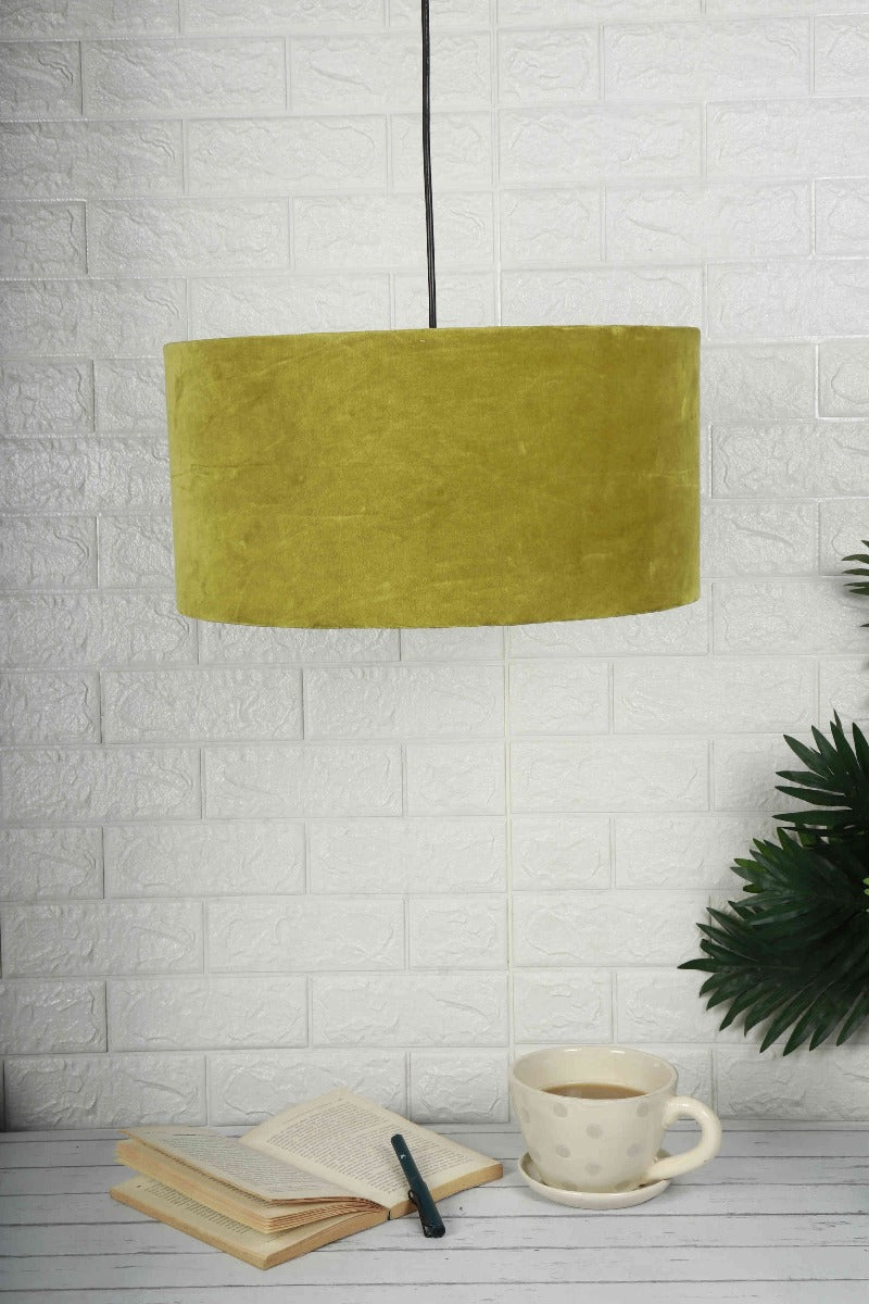 olive green lampshade