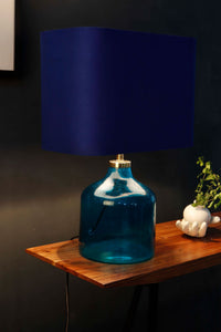 Aqua Blue Table Lamp with 3 [BEIGE, BLUE, WHITE] Shade