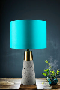 Rocky Road Table Lamp with 2 [YELLOW VELVET, TURQUOISE] Lampshade