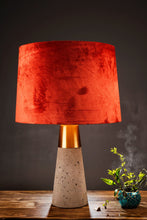 Load image into Gallery viewer, Rocky Road Table Lamp with 3 [BLACK, GREEN VELVET, RUGGED ORANGE] Shade