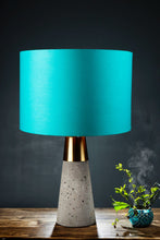 Load image into Gallery viewer, Rocky Road Table Lamp with 2 [YELLOW VELVET, TURQUOISE] Lampshade