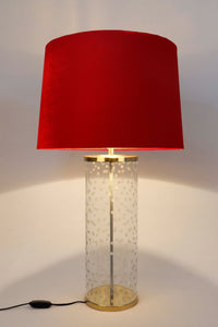 Polka Straw Table Lamp with 3 [BEIGE, RED, YELLOW] Shade