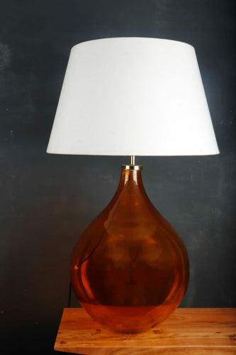 Big Bump Table Lamp with Frustum White Lampshade