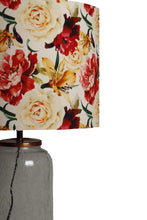 Load image into Gallery viewer, Fizz Jar Table Lamp with Flower Printed Lampshade