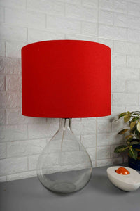 Red Cotton Lampshade for Lamps