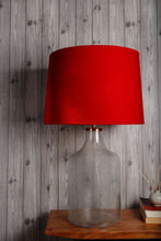 Load image into Gallery viewer, Fizzy Bottle Table Lamp with 2 [RED VELVET, RUST ORANGE] Shade