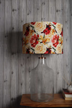 Load image into Gallery viewer, Fizzy Bottle Table Lamp with Flower Printed Lampshade