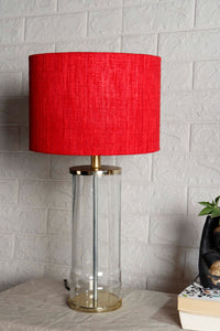 Facile Glass Table Lamp with 3 [RED, BLACK, GREY] Shade