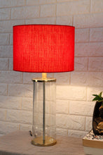 Load image into Gallery viewer, Facile Glass Table Lamp with 3 [RED, BLACK, GREY] Shade