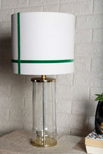 Load image into Gallery viewer, Facile Glass Table Lamp with 3 [WHITE, DUSTY PINK, GREEN STRIPE] Shade