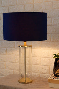 Facile Glass Table Lamp with 3 [BLACK, BLUE, WHITE] Shade
