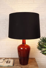Load image into Gallery viewer, Merlot Red Table Lamp with 2 [BLACK, BIEGE] Tapered Shade