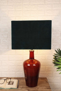 Black Rectangle Semi Opaque Lampshade