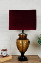 Load image into Gallery viewer, Strawberry Drop Table Lamp with Rectangular Velvet Lampshade