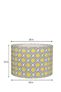 Multi-color Print Drum Lampshade for Table Lamp