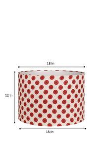 Mandala Print Red Drum Lampshade for Table Lamp